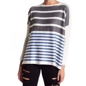 New Go Couture Printed Elbow Patch Sweater